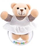 Погремушка Мишка в платье (девочка), Canpol babies, мишка в сарафане от Canpol babies