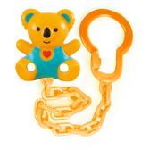 Держатель для пустышки Коала с сердцем оранжевый, Canpol babies, желто-зеленый Коала, желтая цепочка от Canpol babies