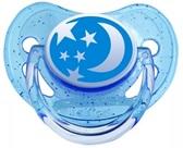 Пустышка Nature силиконовая круглая, синяя со звездочками, 18 мес, Canpol babies, синяя от Canpol babies