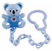 Держатель для пустышки Коала голубой с сердцем, Canpol babies, сине-голубой Коала, голубая цепочка от Canpol babies