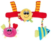 Игрушка мягкая на коляску разноцветный океан (рыба, краб, осьминог), Canpol babies, рыбка, краб, осьминог от Canpol babies