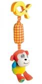 Игрушка-подвеска мягкая с колокольчиком Обезьянка, Canpol babies, обезьяна от Canpol babies