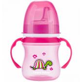 Кружка тренировочная, розовая, 120 мл, Canpol babies, малиновый, черепаха от Canpol babies