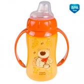Поильник, оранжевый с медвежонком, 320 мл, Canpol babies, оранжевый, медведь от Canpol babies
