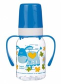 Бутылочка для кормления Ферма 120 мл (синий ослик), Canpol babies, синяя, осел от Canpol babies
