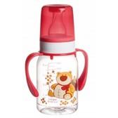 Бутылочка для кормления Ферма 120 мл (красный медведь), Canpol babies, красная, медведь от Canpol babies