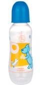 Бутылочка 330 мл Веселые зверята с узким горлышком (синяя крышечка), Canpol babies, синий, собака от Canpol babies
