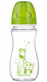 Антиколиковая бутылочка EasyStart Цветные зверюшки (зеленая крышка), 300 мл, Canpol babies, зеленая, жираф от Canpol babies
