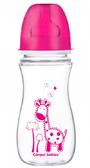 Антиколиковая бутылочка EasyStart Цветные зверюшки (малиновая крышка), 300 мл, Canpol babies, малиновый, жираф от Canpol babies