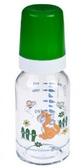 Бутылочка стеклянная, 120 мл, зеленая с котиком, Canpol babies, зеленый, кот от Canpol babies