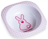 Тарелка из меламина глубокая, квадратная, с розовым зайчиком, Canpol babies, розовая, зайчик от Canpol babies