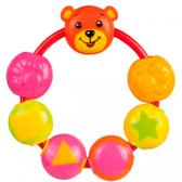 Погремушка Мишка с бусинками, Canpol babies, оранжевый медведь от Canpol babies