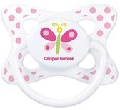 Пустышка Каникулы, силиконовая симметричная, с бабочкой, 18 мес, Canpol babies, бабочка от Canpol babies