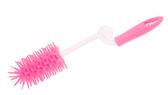 Ершик с изогнутой ручкой для мытья бутылочек, розовый, Canpol babies, розовый от Canpol babies