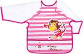 Фартук с рукавами Пираты, розовый с обезьянкой, с 2-х лет, Canpol babies, розовый от Canpol babies