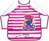 Фартук с рукавами Пираты, розовый с осьминогом, с 3-х лет, Canpol babies, розовый от Canpol babies