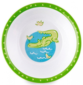 Глубокая тарелка из меламина Зоопарк с крокодилом, Canpol babies, крокодил от Canpol babies