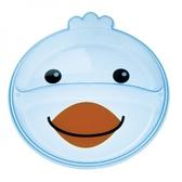 Тарелка с двумя отделениями Зверюшки, голубой ципленок, Canpol babies, цыпленок от Canpol babies