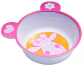 Глубокая тарелка из меламина с ушками с антискользящим дном, бело-розовая, Canpol babies, розовая от Canpol babies