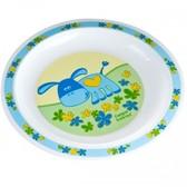 Тарелка пластиковая мелкая Smile с осликом, Canpol babies, синяя, ослик от Canpol babies
