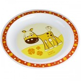 Тарелка пластиковая мелкая Smile с лошадкой, Canpol babies, желтая, лошадка от Canpol babies