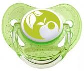 Пустышка Nature силиконовая анатомическая, салатовая с яблочком, 0-6 мес, Canpol babies, зеленая от Canpol babies