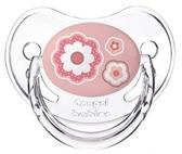 Пустышка Newborn baby силиконовая анатомическая, с цветочками, 6-18 мес, Canpol babies, розовая с цветочками от Canpol babies