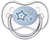 Пустышка Newborn baby силиконовая круглая, голубая с звездочками, 6-18 мес, Canpol babies, голубая с звездочками от Canpol babies