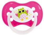 Пустышка Сова, силиконовая симметричная, розовая, 18 мес, Canpol babies, розовая от Canpol babies