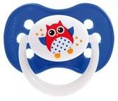 Пустышка Совы, силиконовая симметричная, синяя, 6-18 мес, Canpol babies, синяя от Canpol babies