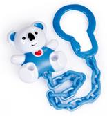 Держатель для пустышки Коала с сердцем синий, Canpol babies, бело-синий Коала, синяя цепочка от Canpol babies