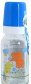Бутылочка стеклянная, 120 мл, синяя со слониками, Canpol babies, синий. слоники от Canpol babies
