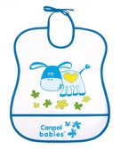 Мягкий пластиковый слюнявчик, бело-синий с осликом, Canpol babies, синий от Canpol babies