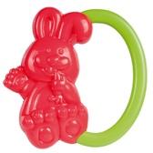 Погремушка Зайчик (красный с зеленой ручкой), Canpol babies, красный, зеленая ручка от Canpol babies