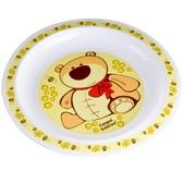 Тарелка пластиковая мелкая Smile с мишкой, Canpol babies, медвежонок, желтая от Canpol babies