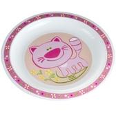 Тарелка пластиковая мелкая Smile с котенком, Canpol babies, котенок, розовая от Canpol babies