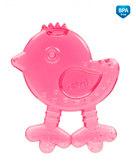 Прорезыватель для зубов Птица розовая, Canpol babies, розовая