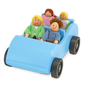 Игровой набор Дорожная машинка с куклами Wooden Car&Pose-able, Melissa & Doug