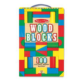 100 деревянных кубиков Wood Blocks Set, Melissa & Doug