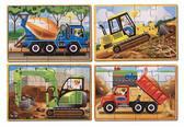 Строительство - набор из 4 пазлов Construction, Melissa & Doug