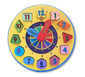 Часы-сортер Shape Sorting, Melissa & Doug