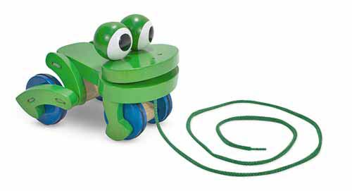 Деревянная каталка Лягушка на веревочке Frolicking Frog Pull Toy, Melissa & Doug