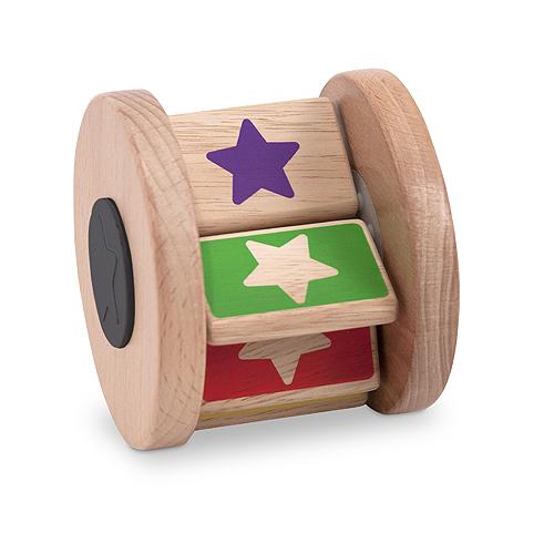 Деревянная крутилка Звездочка New Baby - Flip Flap Drum, Melissa & Doug