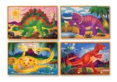 Динозавры - набор из 4 пазлов Dinosaurs, Melissa & Doug