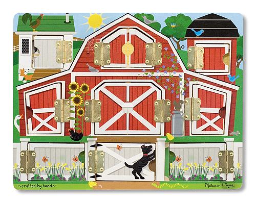 Доска с окошками Ферма Magnetic Farm Hide & Seek, Melissa & Doug