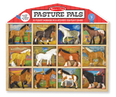 Конюшня - фигурки лошадей (12 шт.) Pasture Pals, Melissa & Doug