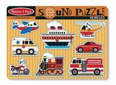 Звуковой пазл Машинки Vehicles Sound Puzzle, Melissa & Doug