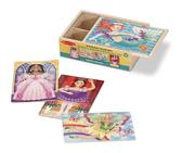 Сказочные друзья - набор из 4 пазлов Fanciful Friends Puzzles in a Box, Melissa & Doug