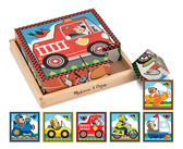 Кубики Транспорт Vehicles Cube Puzzle, Melissa & Doug от Melissa & Doug