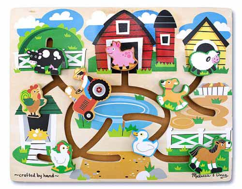 Лабиринт-пазл Ферма Farm Maze, Melissa & Doug